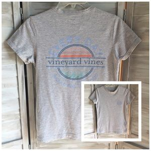 VINEYARD VINES XXS gray graphic fitted T-Shirt